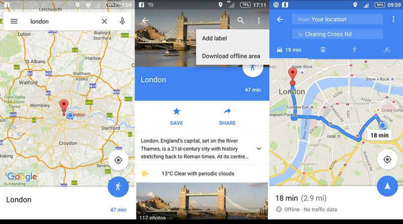 Навигация без подключения к интернету с Google Maps