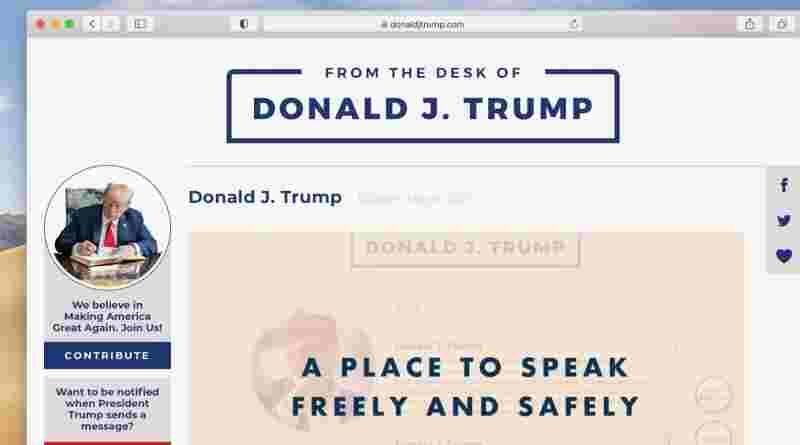 блог Дональда Трампа